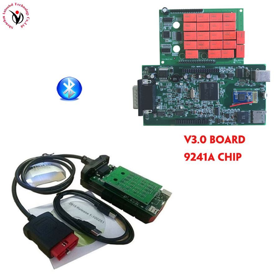 4PCS DHL V3.0 Green Board Bluetooth nec relay VD TCS CDP New Vci Software 2016.00 free activate for Car truck Diagnostic tool