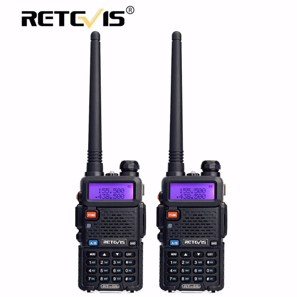 2pcs Retevis RT-5R Walkie Talkie Radio 128CH VHF UHF Dual Band Ham Radio Amador Hf Transceiver 2 Way cb Radio Communicator RT5R