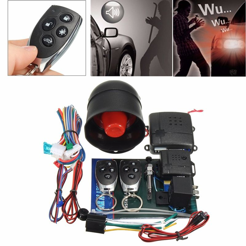 LB-100D One-Way Car  Auto Remote Central Kit Smart Programmable Alarm System Keyless Door Lock Locking With Remote Controllers