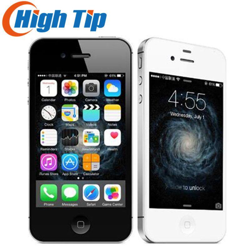 Free Gift! Original Apple iphone 4S Factory Unlocked 8GB/16GB/32GB/64GB Mobile phone 3G GSM Wi-Fi GPS 8MP 3.5'' Screen iOS USED