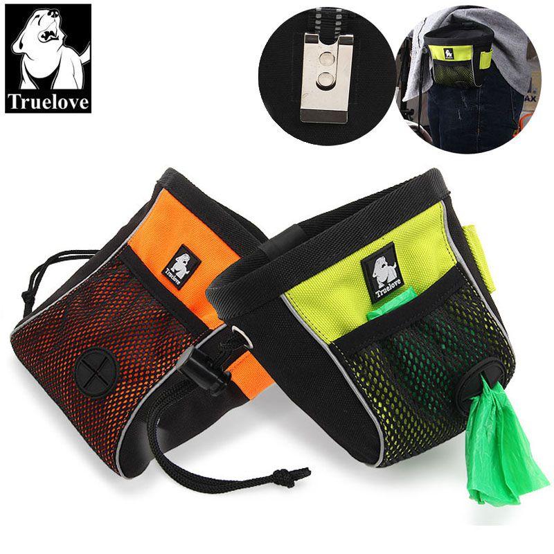 Truelove Portable voyage chien accessoires sac réfléchissant animal de compagnie formation Clip-on pochette sac facile stockage ceinture sac merde sac distributeur