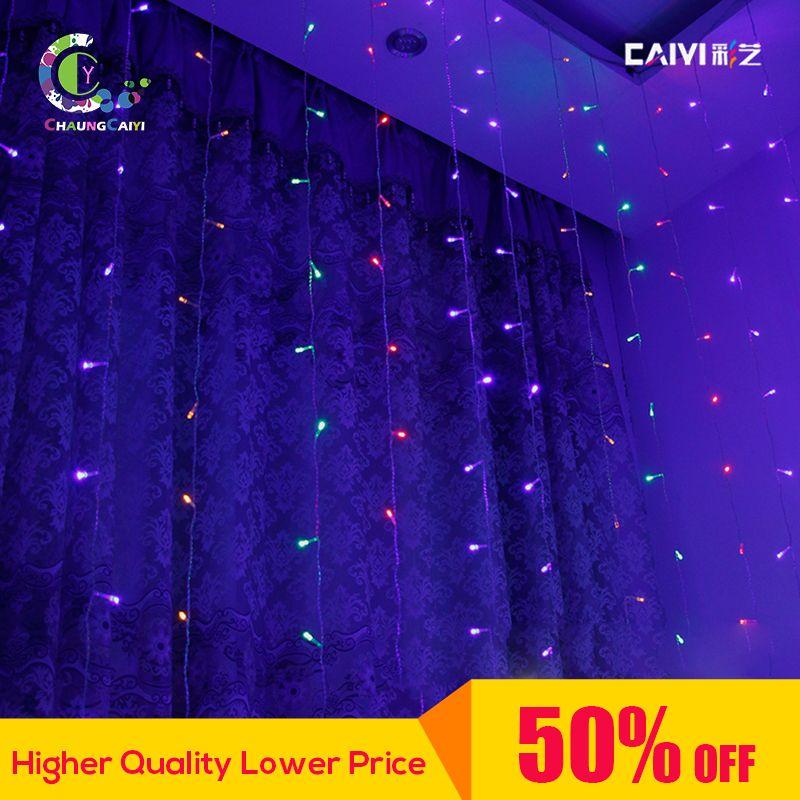 Party Fairy LED Cortina de Ventana 3 m * 3 m LED Luz de Tira