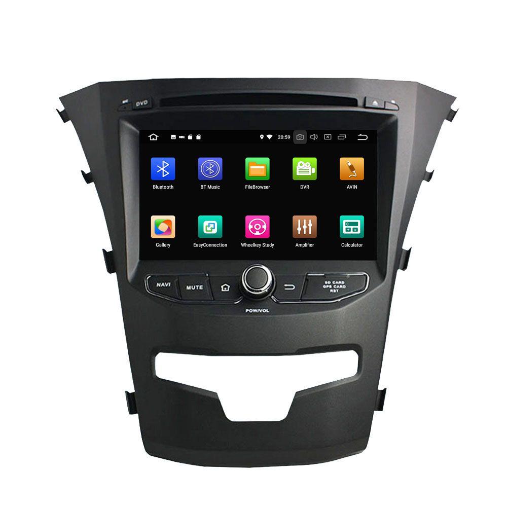 4G RAM Android 9.0 Octa-core Auto DVD Player für SsangYong Korando Actyon 2014-2017 Radio GPS Navigation wiFi DVR SWC Audio Video