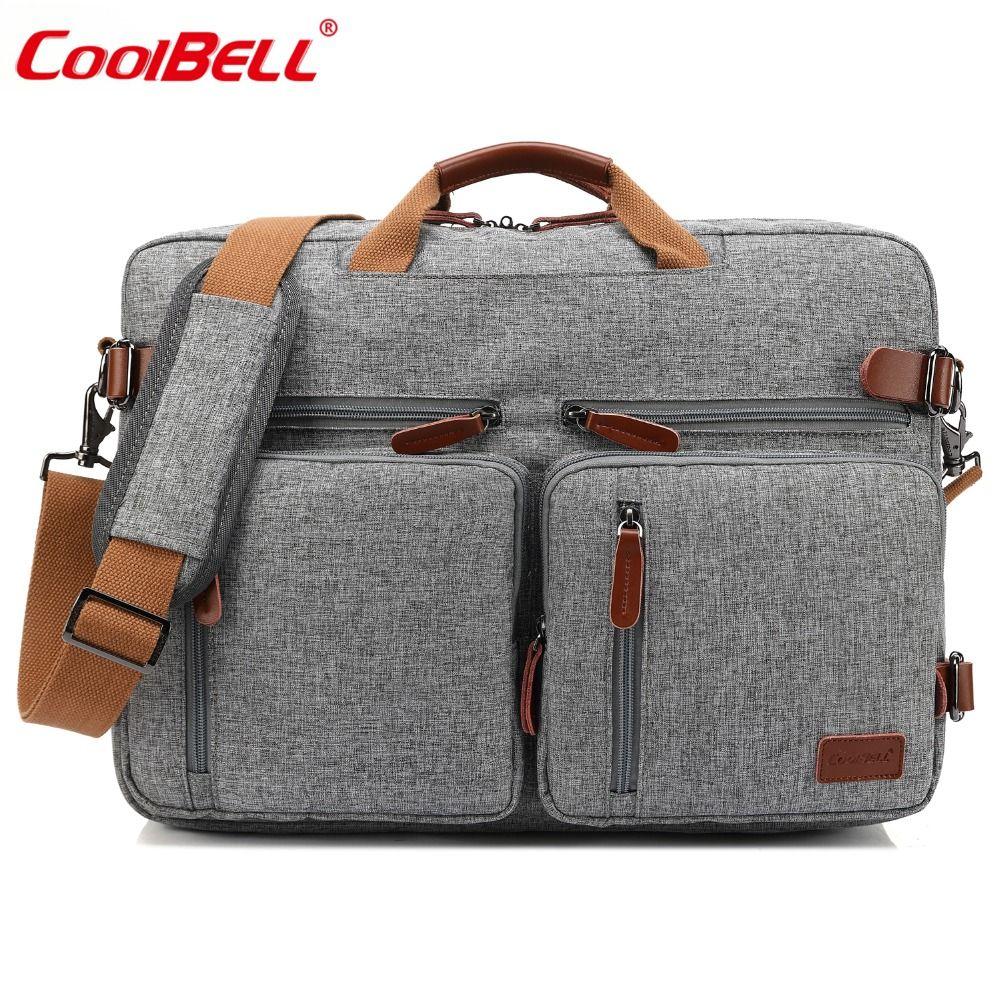 CoolBELL 17.3 Inch Convertible Messenger Bag Men Laptop Case Business Multifunctional Knapsack Travel Rucksack Bags For HP/ Acer
