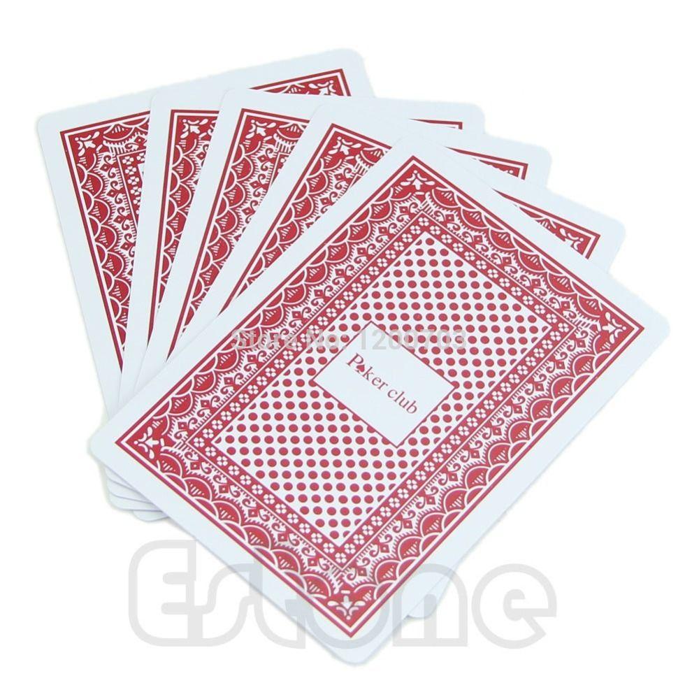 B39 Neueste 2015 Wasserdichte Poker Neue Rot 100% KUNSTSTOFF Waschbar Texas Poker Größe Spielkarten