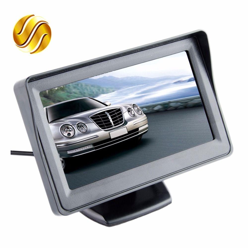 Car Monitor 4.3 Screen For Rear View Reverse Camera TFT LCD Display HD Digital Color 4.3 Inch PAL/NTSC