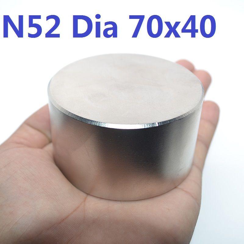 1PC N52 Dia 70mm x 40mm aimant Super fort rond néodyme aimant le plus fort permanent puissant magnétique