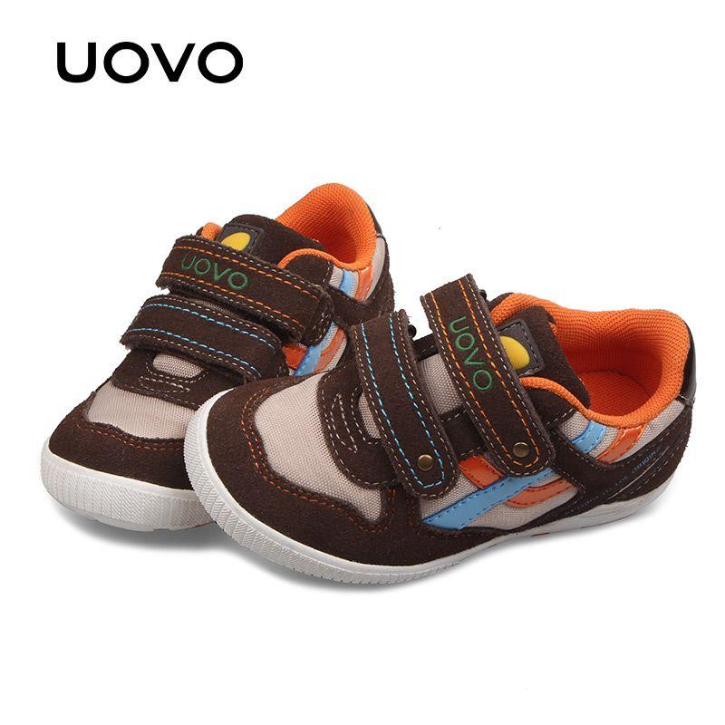 Uovo Осень младенческой мальчик Обувь модные плоские дети Повседневное тапки дышащий крюк-и-петля Обувь для мальчиков Кроссовки EUR Размеры 29 #...