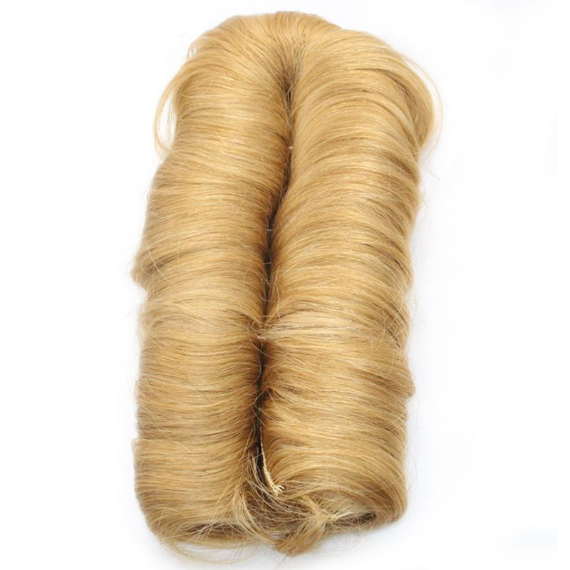 Dlme #27 блондинка двойной уток природных прямо Инструменты для завивки волос не сарай Синтетические волосы 28 шт. короткие Bump ткань для Для жен...