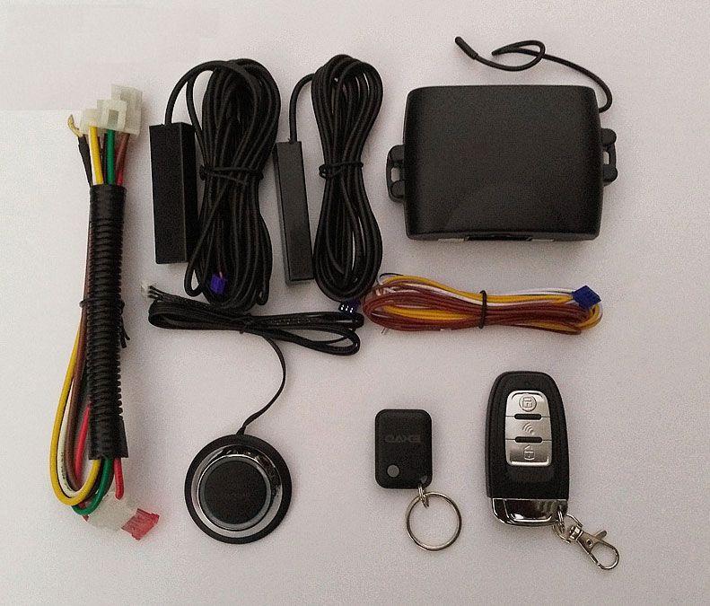 Auto Car Alarm System Keyless Entry Car Engine Remote Controller Starline Universal Remote Central Locking PKE Start Stop Button