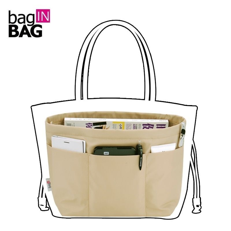 Bag in Bag Women Organizer Travel Pockets Handbag Heighten Style or Tote style Small styles 4 colors