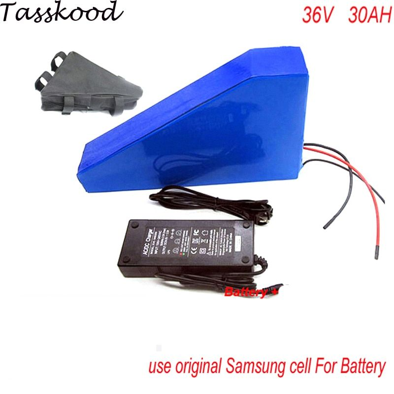 Triangle style electric bike battery 36v 30ah /ebike battery 36v 1000w BMS control ebike kit with BMS,charger For Panasonic Cell
