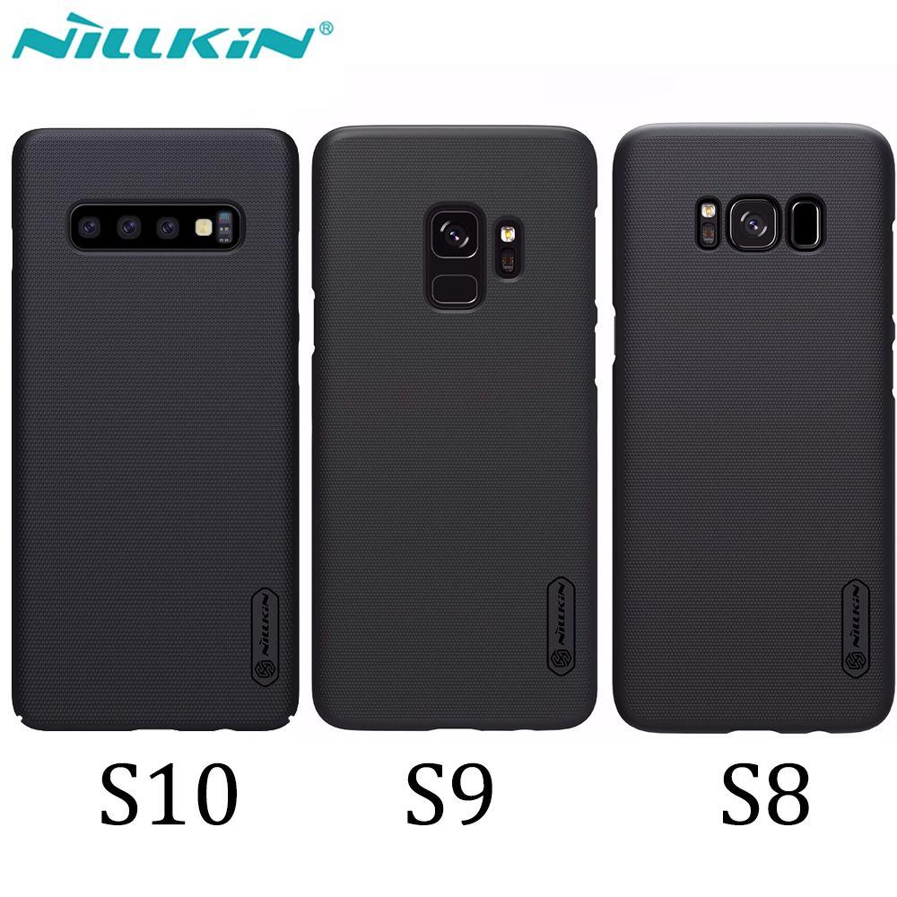Étui pour Samsung Galaxy S10 S9 S8 Plus NILLKIN Super Givré Bouclier revêtement arrière Pour Samsung S10 cadeau support pour téléphone