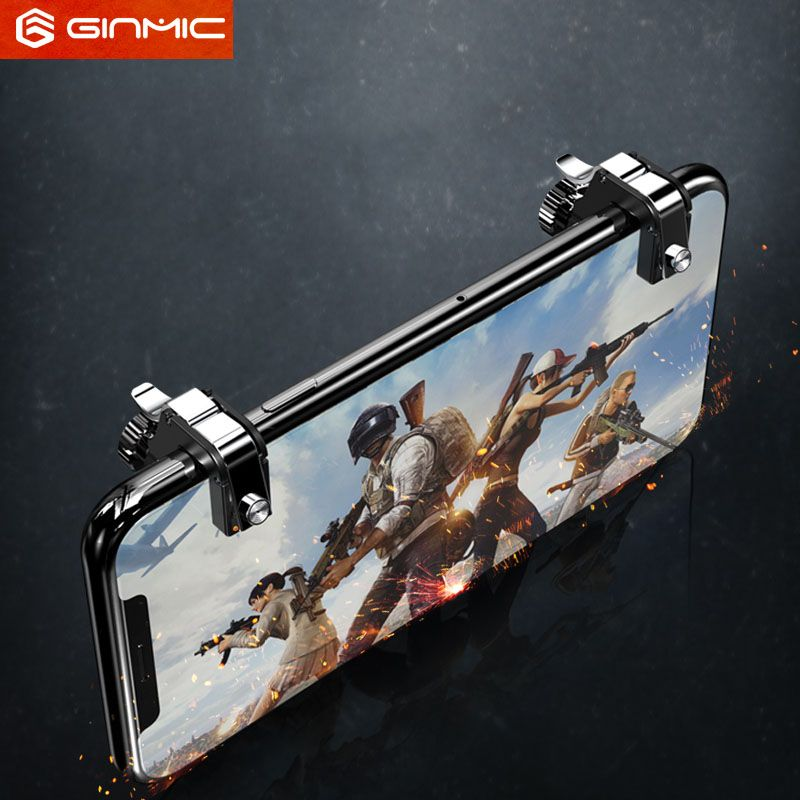 Mobile Game Fire Button Aim Key Smart phone Mobile Game Trigger L1R1 Shooter Controller  metal screw version for PUBG
