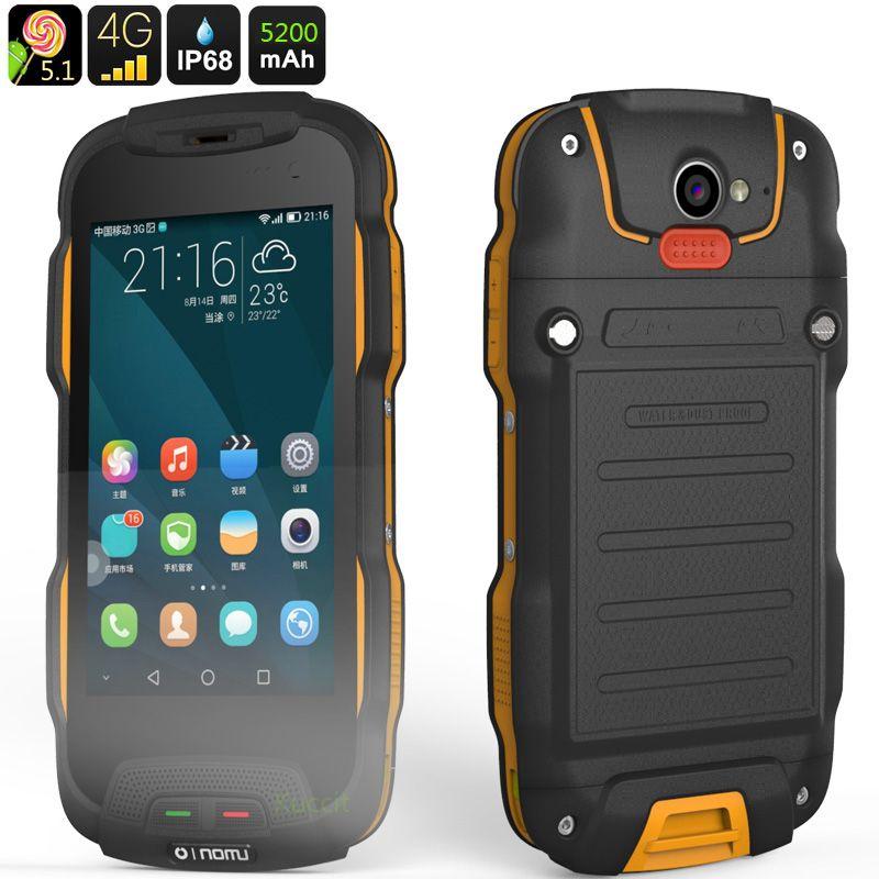 Original Oinom T9H IP68 Robuste, Wasserdichte Telefon 4G LTE Smartphone Android 5.1 Stoßfest handy 5200 mAH Quad core 2 GB RAM