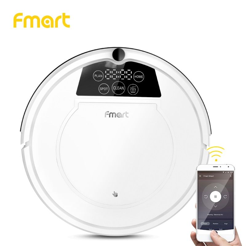 Fmart E-R550W(S) Robot Vacuum Cleaner with APP Control Power Suction Auto Charge for Hard Floor Pet Hair Vacuum Cleaner for Home