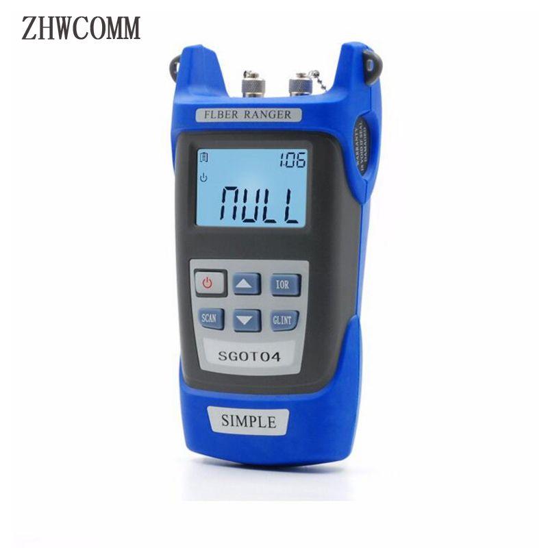 ZHWCOMM SGOT04 Handheld OTDR 60 KM Faser finden fehler tester 1310or1550nm Faser haltepunkt fehlerdetektor mit VFL FC/SC stecker