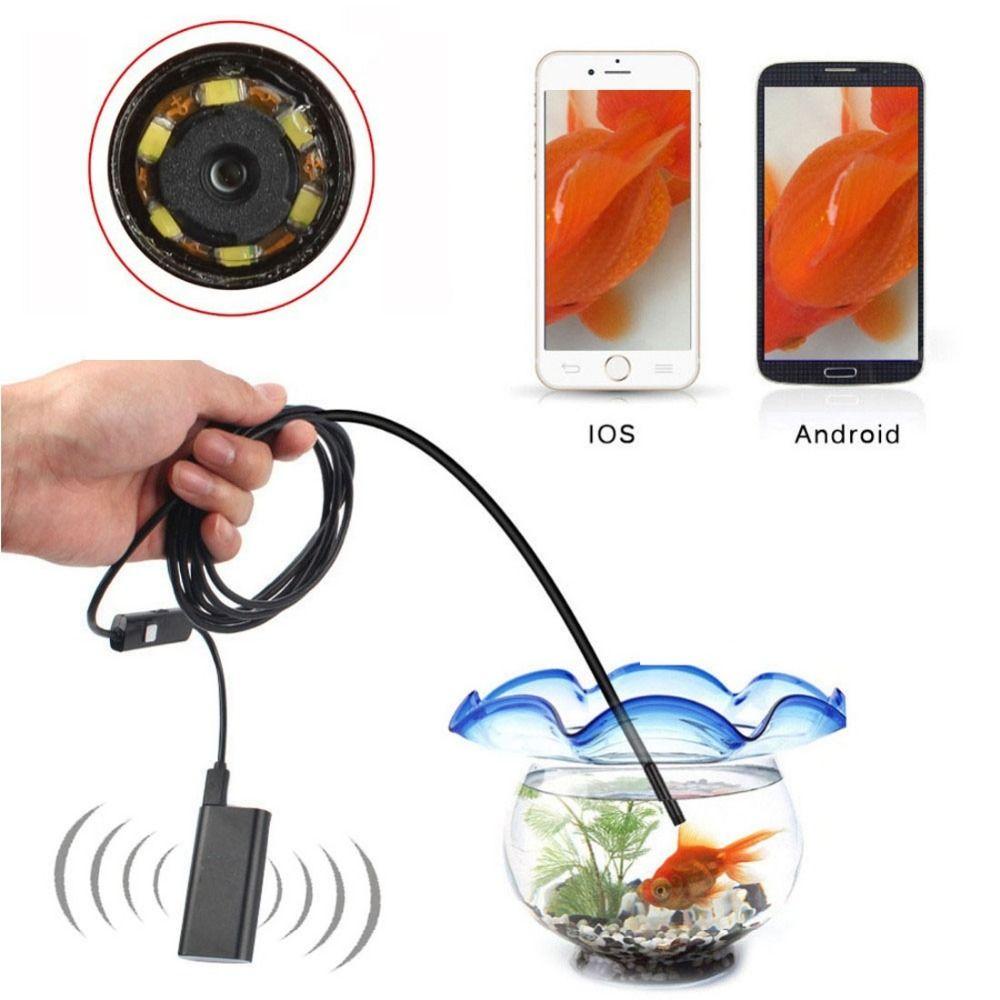 5.5mm Endoscopio USB WiFi para IOS Android Teléfono OTG Del Animascopio de La Serpiente Inspección 0.3MP Cámara 720 P Wifi 30 m Caja de Control remoto