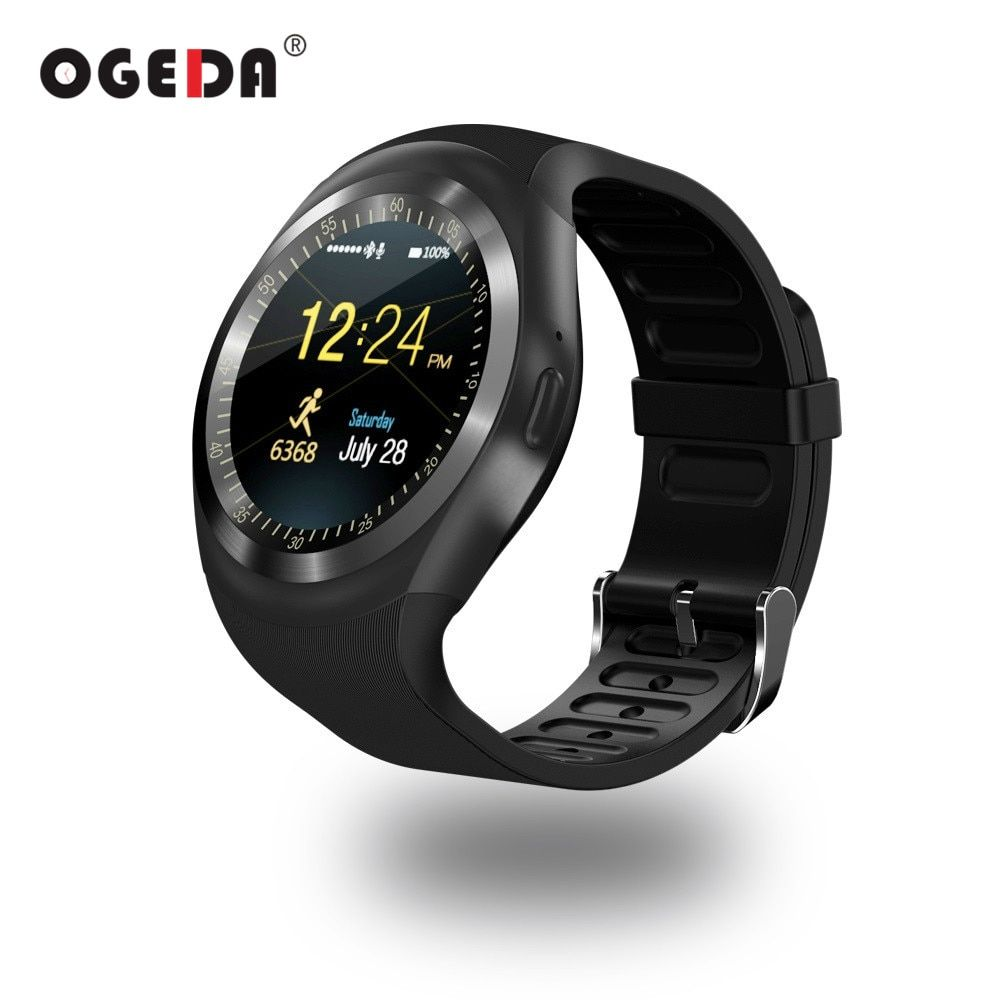 OGEDA Men Smart Watch Round Support Nano SIM&TF Card With Bluetooth 3.0 Men&Women Business Smartwatch For IOS Android O1 PK DZ09