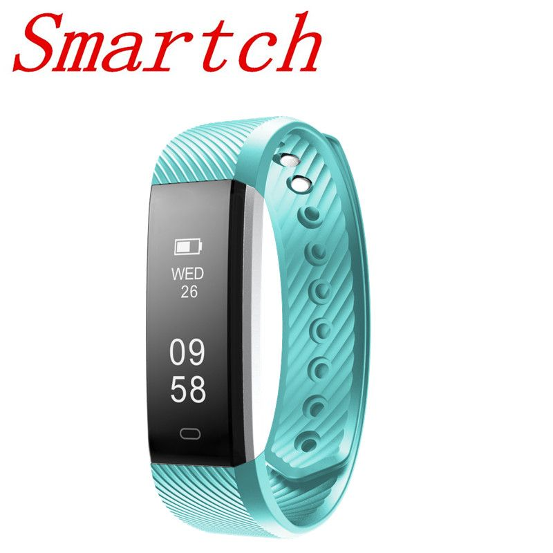 Smartch Sport Armband ID115 Plus HR Smart Armband Schrittzähler Pulsmesser Fitness Tracker 0,96