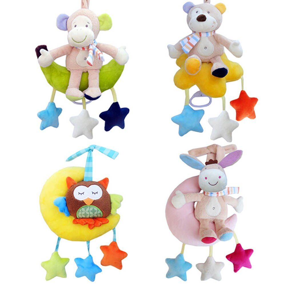 Baby Cloth Bed Crib Soft Rattle Monkey Early Educational Toy Baby Toy Soft Baby Toys Rattle Tinkle Hand Bell Plush Stroller