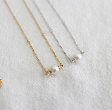 CN001 белый жемчужное ожерелье с коробкой