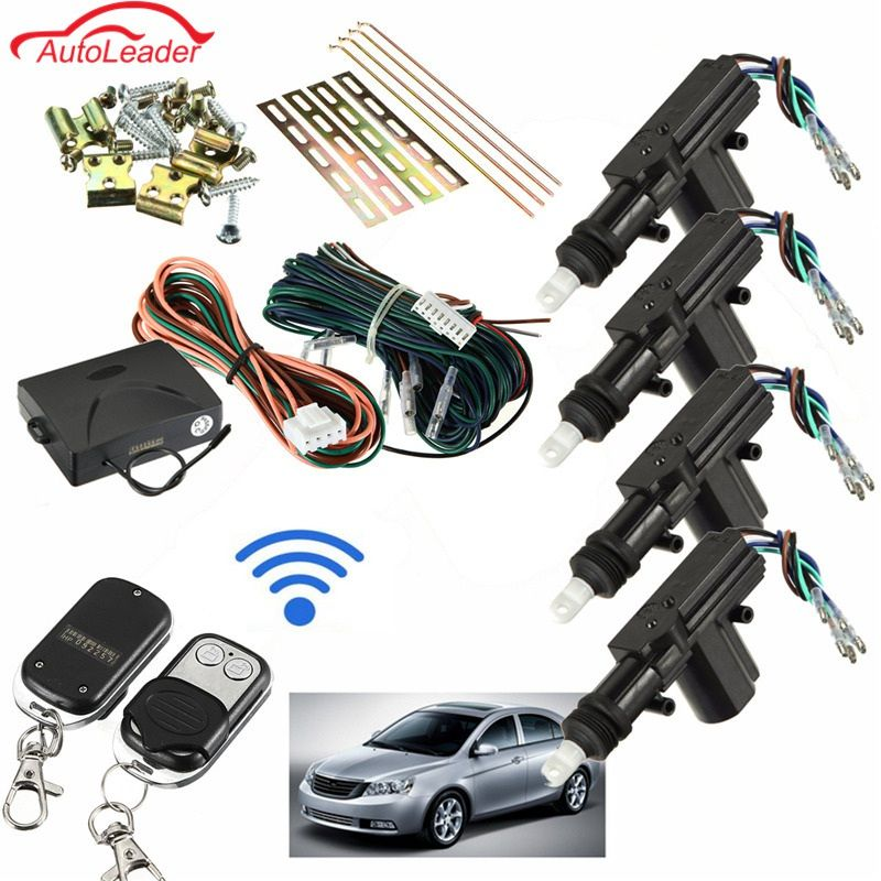 Auto 2/4 Door Remote Keyless Entry Central Locking Kit Universal Car Remote Central Kit Door Lock Keyless Entry System