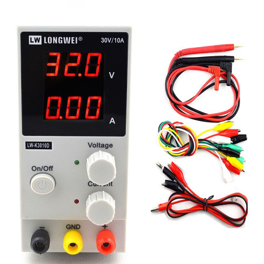 Mini alimentation numérique réglable DC 30 V 10A laboratoire alimentation à découpage 110 v-220 v K3010D ordinateur portable réparation de téléphone