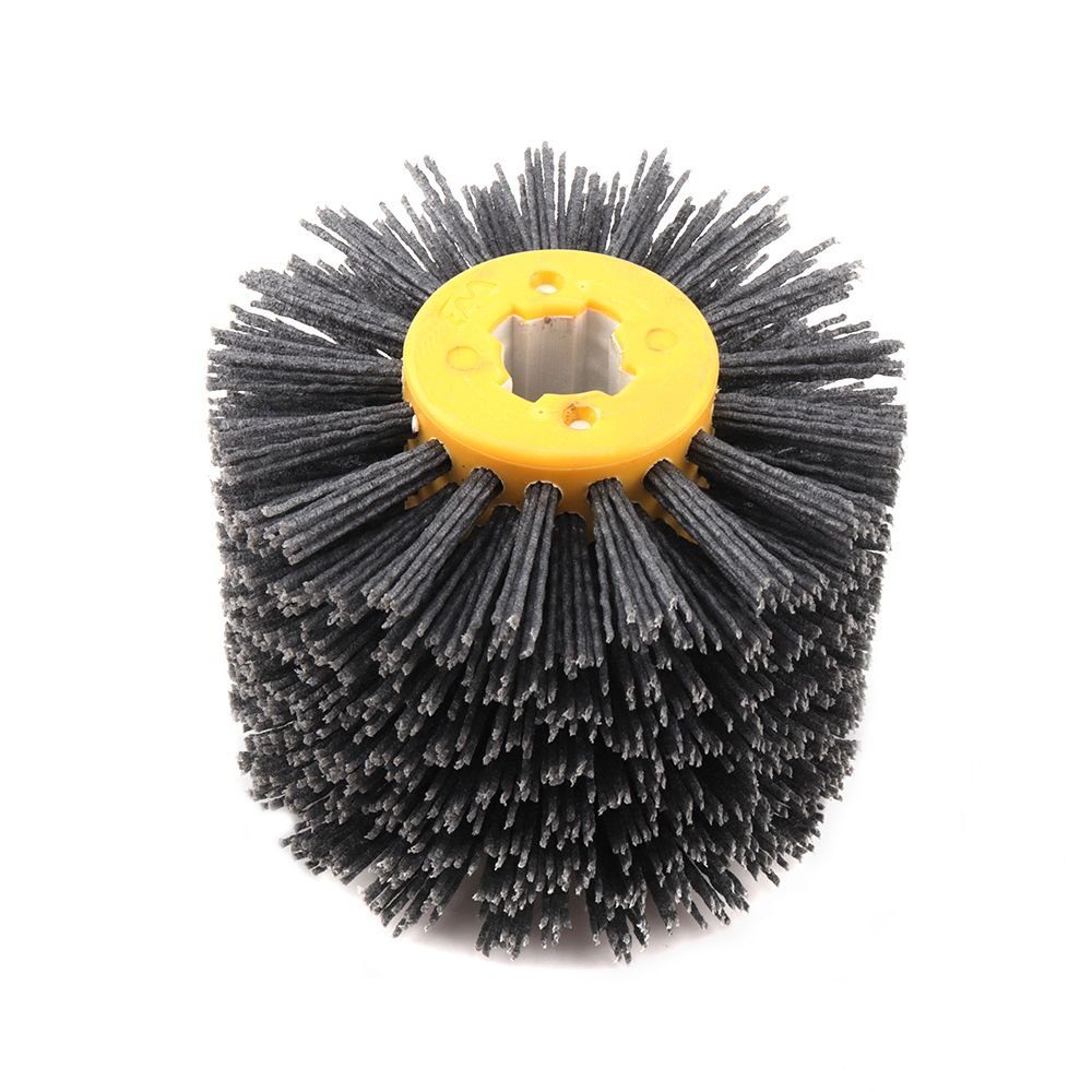 BORUiT 1 pcs 120*100*19mm P80 P120 P240 Abrasives Wire Wheel Brush for Wooden Furniture Burnishing Polishing Striping Drawing