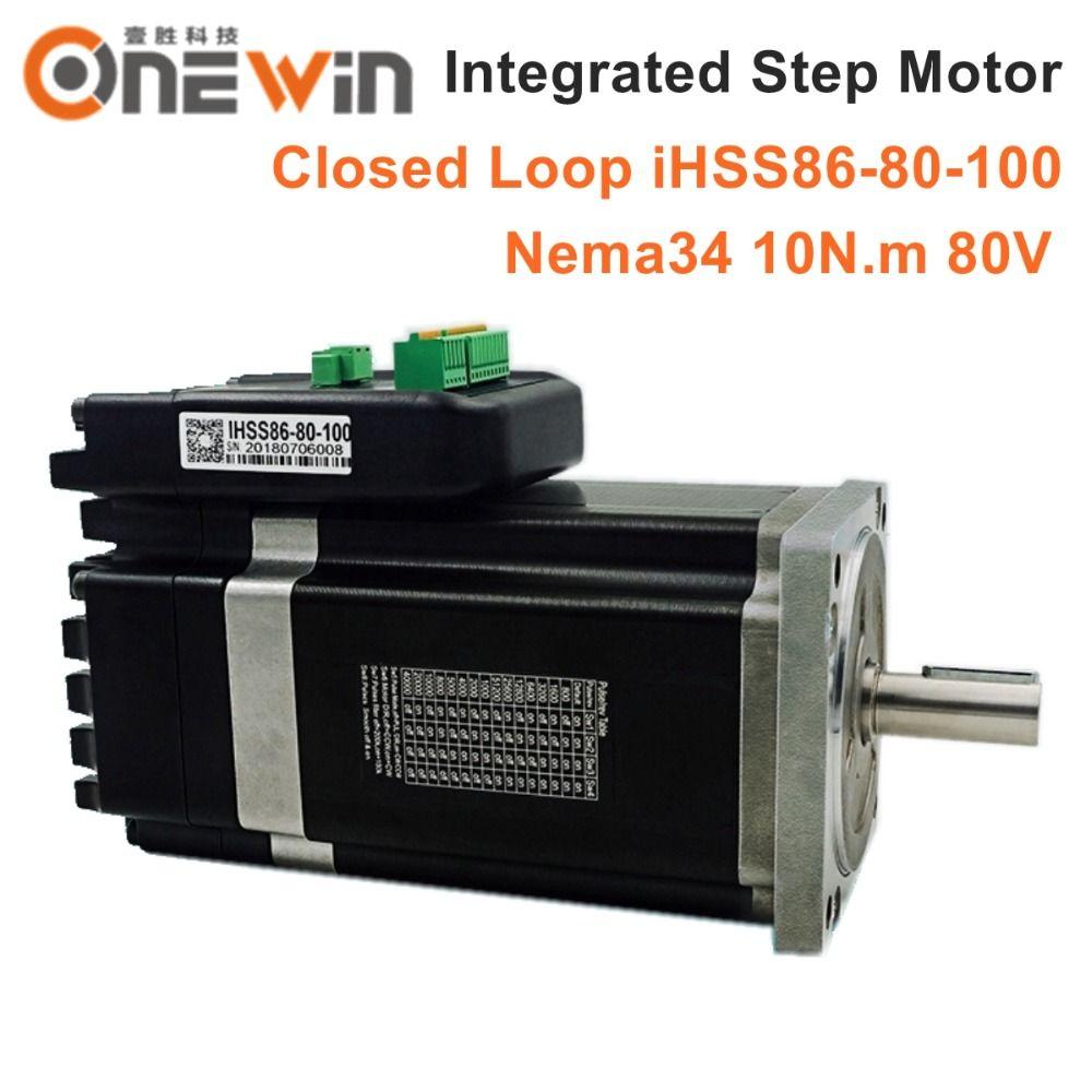 JMC NEMA34 Integrierte Closed Loop Schrittmotor 80 V 10Nm 2 phase iHSS86-80-100 Hybrid stepper servo motor