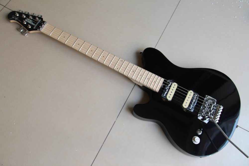 Wholesale New Left Handed Musicman Electric Guitar In Black 120213A