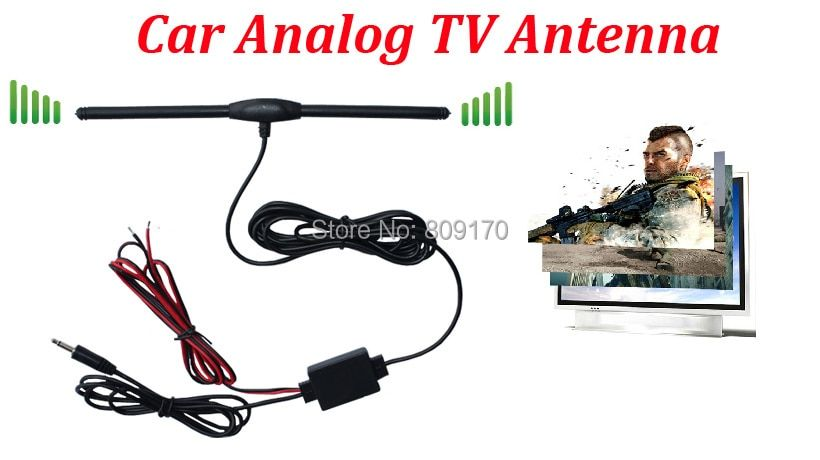 Promotion ! Car Analog TV Aerial for Car DVD GPS with DC 3.5 Connector, AMP Booster Amplifier, Car Antenna+Free shipping