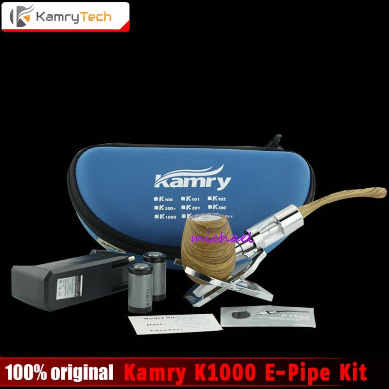 100% Original Kamry K1000 E-Pipe kit 18350 Battery K1000 Atomizer e Pipe Mod Wooden Free Shipping
