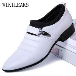 Menunjuk Toe Sepatu Formal Pria Pernikahan Oxford Sepatu untuk Pria Sepatu 2019 Pria Oxfords Kulit Sepatu Pria Zapatos Hombre vestir