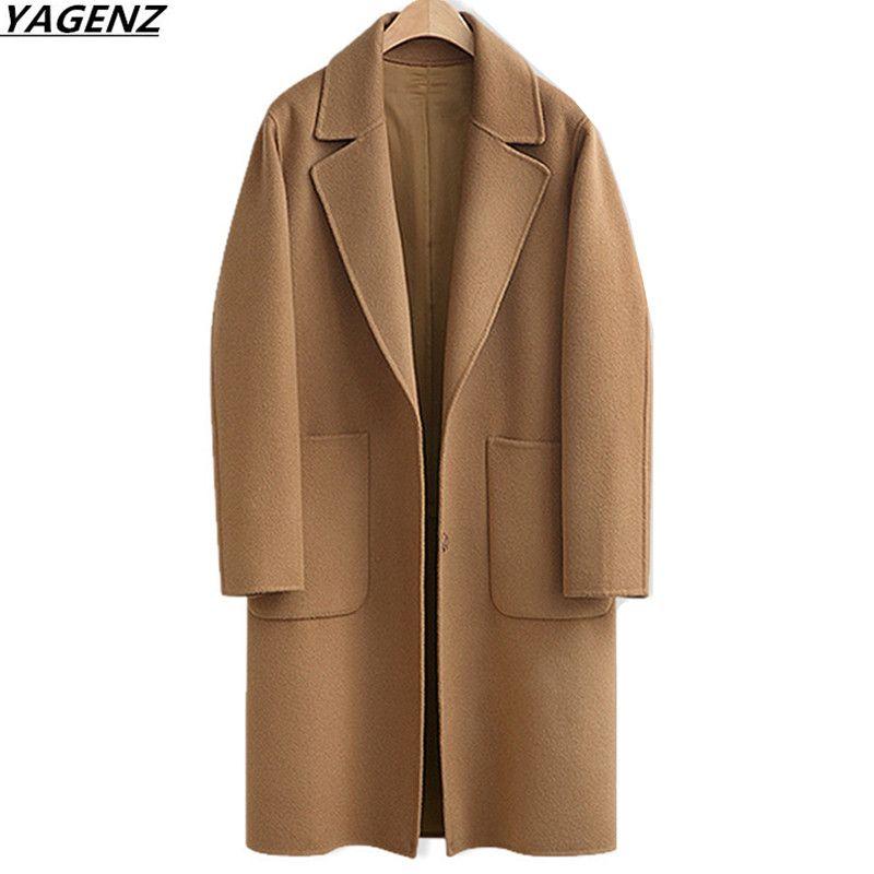 2017 Autumn Winter New Women Woolen Jacket Medium-long Outerwear Plus size M-5XL Casual Loose Women Jackets Coats YAGENZ K701