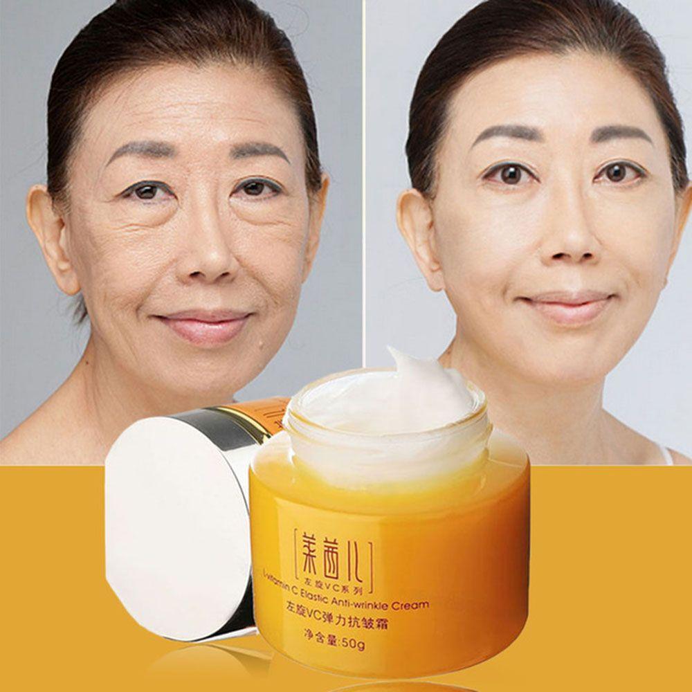 Crème de soin de la peau vitamine C pour Anti-âge Anti-rides hydratant blanchissant serrant beauté crème pour le visage cosmétiques coréens