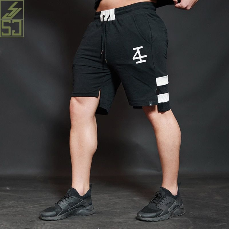 SJ Men Shorts Summer 2017 beach Fashion Cotton High quality Joining Together The Embroidery Lrregular Short Pants Hot <font><b>selling</b></font>