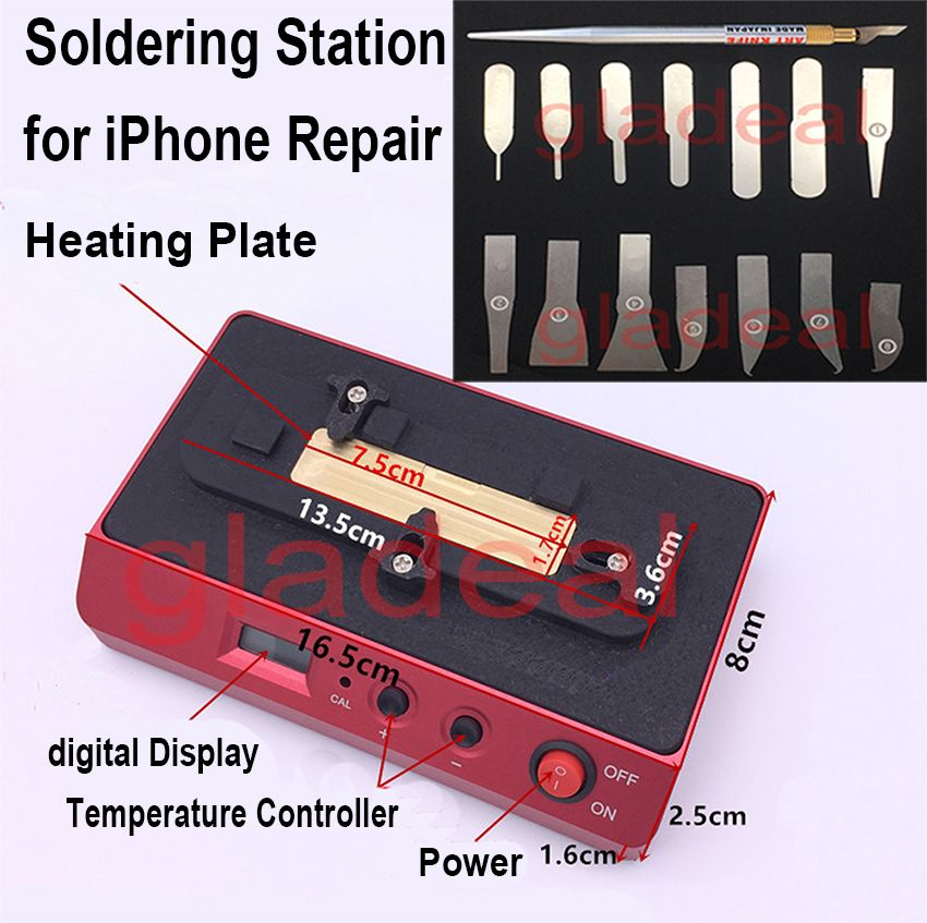 Chip Heating Station Soldering Welding Rework Plateform For iPhone NAND CPU A8 A9 BGA IC Removal Disassemble Desoldering Tools