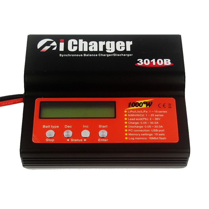 iCharger 3010B 1000W 30A DC 1-10S Lipo Battery Synchronous Balance Charger Discharger
