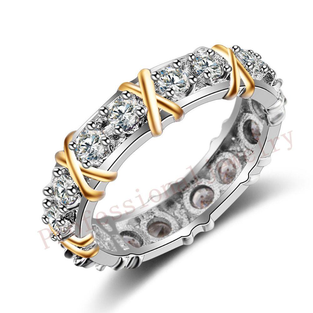 Choucong Wieck Marke Desgin Schmuck 925 Sterling Silber AAA CZ Steine Hochzeit Frauen Engagement Band Gold Ring geschenk Größe 5 -11