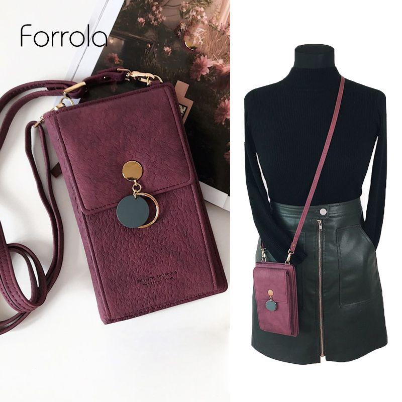 Dernières femmes en cuir épaule portefeuille téléphone sac Case femme multifonction pièce changement passeport sac à main porte-carte embrayage pour les filles