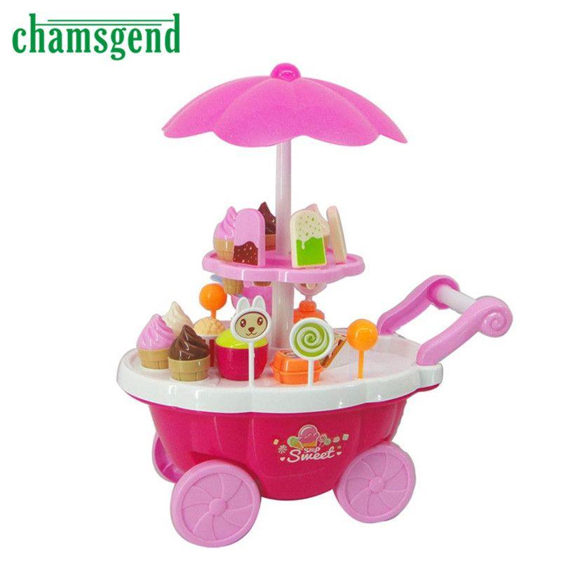 New Kids Toys Simulation Mini Candy Ice Cream Trolley Shop Pretend Play Set 39PC Gift Levert Dropship Nov22