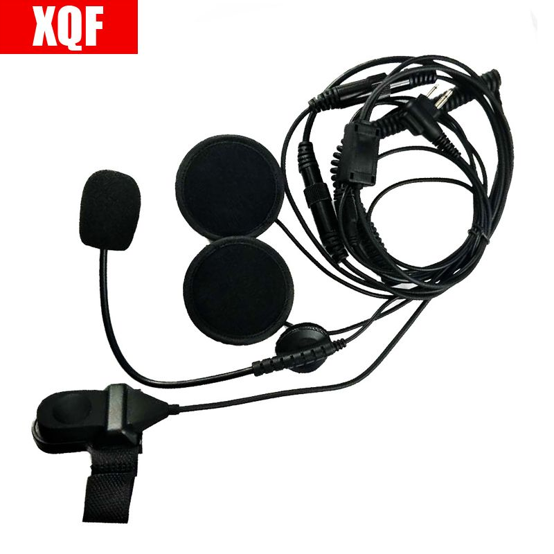 2 Pin Finger PTT Headset Motorcycle Helmet Microphone For Motorola GP Series GP68  CP SP CT PRO P XTN CLS Spirit M Series Radio
