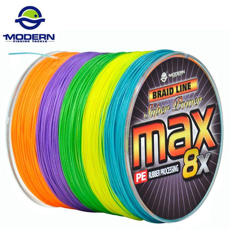 500 Mt MODERNE ANGELN Marke MAX serie Japan multicolor 10 Mt 1 Farbe mulifilament PE Geflochtene Angelschnur 8 Stränge litzen