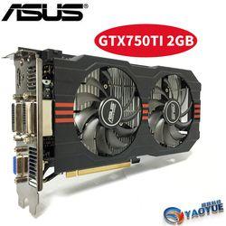 ASUS GTX-750TI-OC-2GB GTX750TI GTX 750TI 2G D5 DDR5 128 Bit PC Desktop Kartu Grafis PCI Express 3.0 Komputer Video kartu HDMI