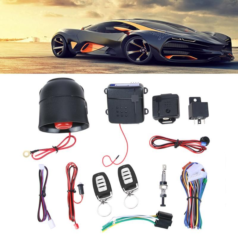 Universal Car Vehicle Auto Burglar Alarm Protection Keyless Entry Security System Starter Anti-theft System with Remote Control