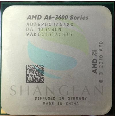 AMD A6-3600 A6 3620 A6-3620 2.2GHz 4M 65W Quad-Core CPU Processor AD3620OJZ43GX Socket FM1/ 905pin
