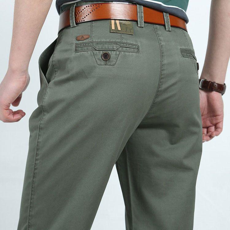 3 Colores 30-42 de La Moda de Algodón Hombres de Negocios Formal Casual Pantalones Largos ropa de Hombre Verde Del Ejército Pantalones Pantalones Marca Verano otoño