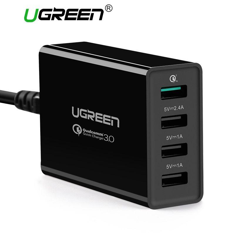 Ugreen 34 W USB Chargeur Charge Rapide 3.0 Rapide Mobile Téléphone chargeur pour iPhone Samsung Xiaomi Nexus Tablet 4 Port De Bureau chargeur