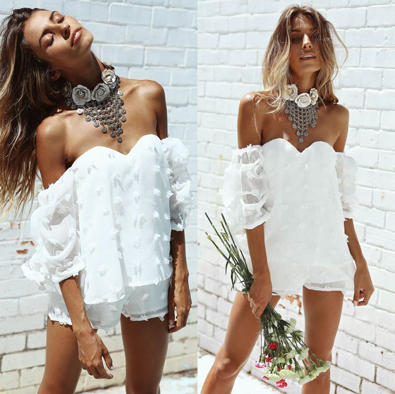 New Fashion Summer Women Ladies Bodysuits Clubwear V Neck Playsuit Bodycon Party Jumpsuit Women Sexy Clothes